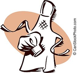 cappello, ristorante, chef, emblema, grembiule