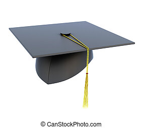 cappello, sfondo bianco, isolato, graduazione