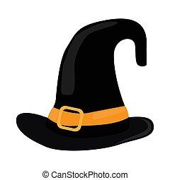cappello strega, isolato