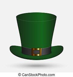 cappello verde, isolato
