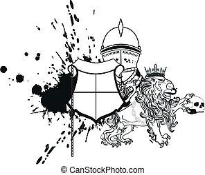 cappotto, araldico, leone, braccia, tattoo4