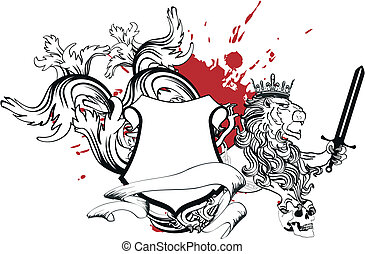 cappotto, araldico, tattoo1, braccia, leone