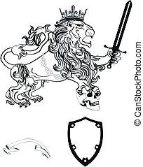 cappotto, araldico, tattoo7, leone, braccia