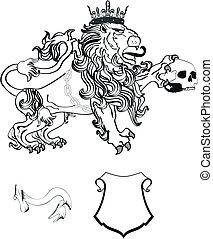 cappotto, araldico, tattoo8, braccia, leone