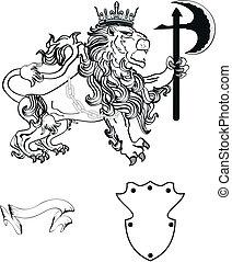 cappotto, araldico, tattoo9, braccia, leone