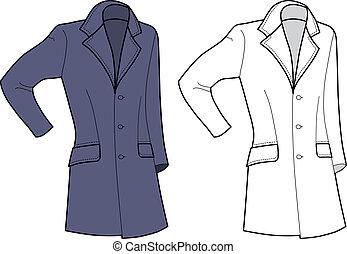 cappotto, (front, view), uomo