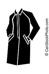 cappotto, illustrazione, vettore