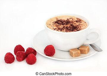 Cappuccino and Raspberries