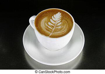 cappuccino, arte, latte
