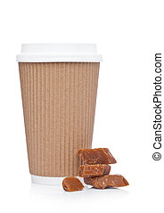 Cappuccino Coffee paper cup for takeaway
