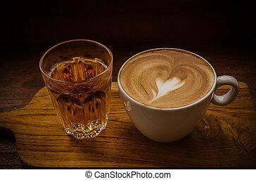 cappuccino, coffee., tasse