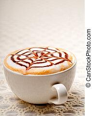 cappuccino, copo