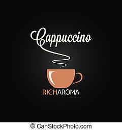 cappuccino cup menu design background
