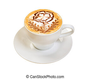 cappuccino cup.coffee . isolated on a white background.