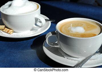 cappuccino, e, latte