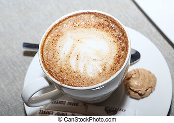cappuccino in a white cup