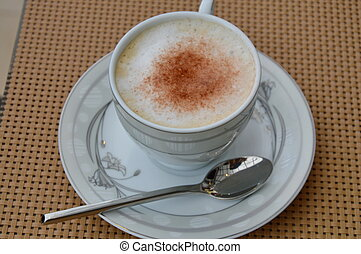cappuccino in the cup