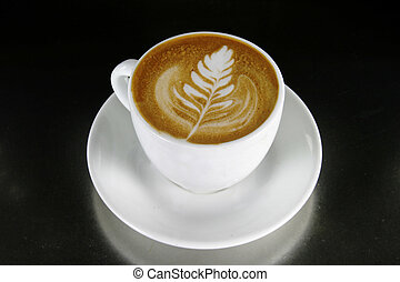 Cappuccino with latte art