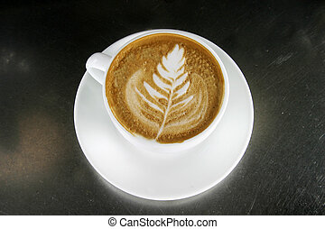 Cappuccino Latte Art - Cappuccino with latte art