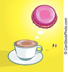 cappuccino macaroon
