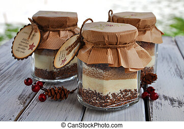 Cappuccino mix in a jar
