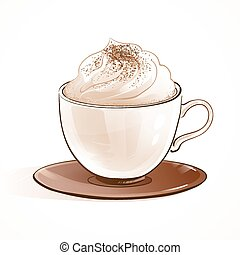 Cappuccino. - Sketchy vector illustration of cappuccino...