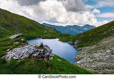 Capra glacier of Fagaras mountains of Romania. gorgeous...