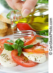 Caprese Salad with oil