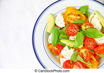Caprese salad with room for text