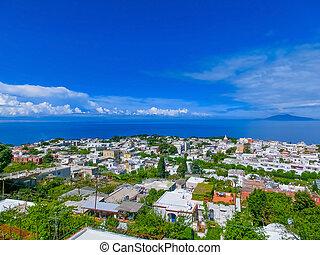 Capri island in a beautiful summer day