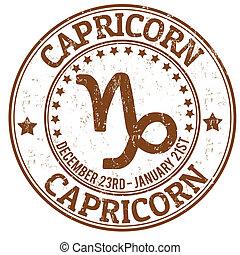 capricórnio, selo, signos, grunge