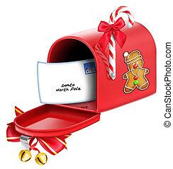 capriccioso, natale, cassetta postale