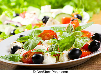 caprice salad - salad with mozzarella and tomatoes