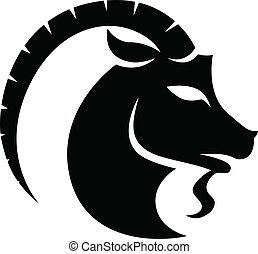 capricorn, 黒, 黄道帯, 星座