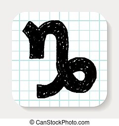 Capricorn Constellation doodle