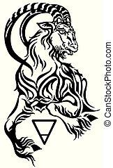 capricorn earth sign tattoo