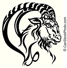 capricorn head tattoo