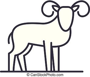 Capricorn line icon concept. Capricorn vector linear illustration, symbol, sign