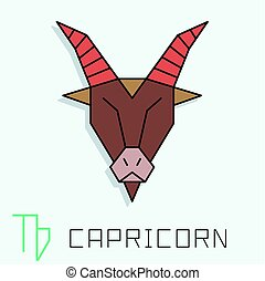 Capricorn sign - Capricorn zodiac sign, horoscope symbol,...