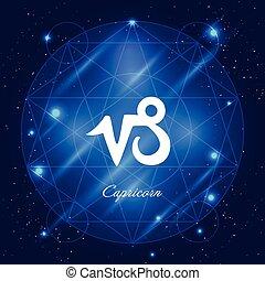 Capricorn sign of the zodiac - Zodiac sign capricorn. Vector...