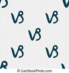 Capricorn sign. Seamless pattern with geometric texture. Vector