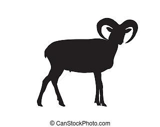 capricorn silhouette vector