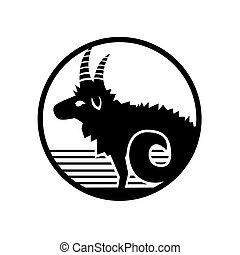 Capricorn vector zodiac sign vector
