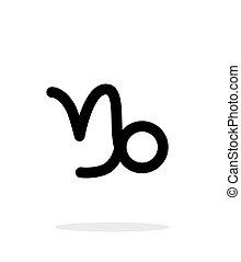 Capricorn zodiac icon on white background.