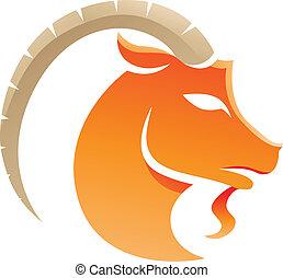 Capricorn Zodiac Star Sign - Illustration of Capricorn...