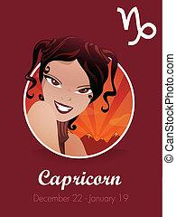 capricorne, zodiaque, signe