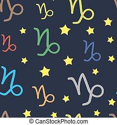 Capricornus zodiac sign seamless texture