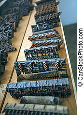 Caps for Applying hot Wax at Traditional Batik Manufacture