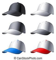 Caps set. - Set of 6 caps.