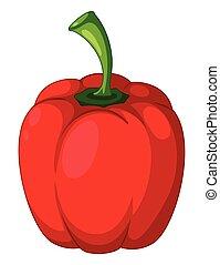 capsicum, blanc rouge, fond